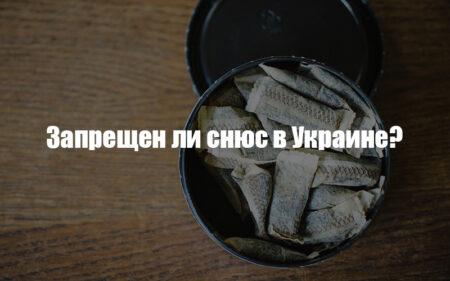 Запрещен ли снюс в Украине логотип